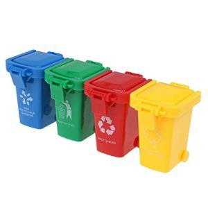 Hukai Lot de 4 mini poubelles pour perroquet
