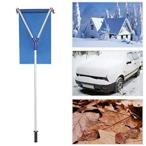 HXSD Outil de déneigement de Toit pour Outil de déneigement de Toit d'excavatrice avec Tige télescopique en Aluminium, Tissu de sécurité Oxford, Bleu