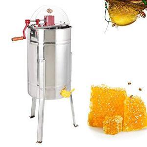 Jacksking Miel Manuel, équipement Manuel d'apiculture de Machine d'extracteur de Miel d'abeille de Cadre en Acier Inoxydable 3 pour Beekeppers