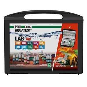 JBL Test de Qualité d'eau pour Bassin, 10 Tests et Accessoires, Bac à Koïs et Bassin de Jardin, PROAQUATEST LAB Koï