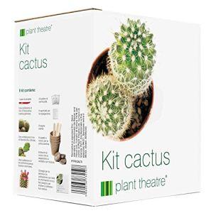 Kit pour cactus Plant Theatre – Kit cadeau de graines de cactus. Tout ce dont vous avez besoin dans une boîte pour faire pousser de fabuleuses variétés de cactus à partir de graines