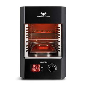 KLARSTEIN Steakreaktor 2.0 – grill électrique haute performance, haute température, 850°C, éléments chauffants en céramique, arrêt automatique, Made in Germany, 1600 W – noir