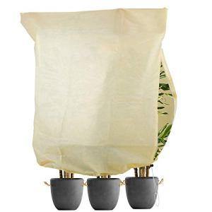L LONGANCHANG Housse d'hivernage pour Plante, Voile Hivernage Plante (180x120CM). Voile d Hivernage des Plantes Réutilisable. Convient pour la Protection des Plantes en Extérieur en Hiver. Moyen