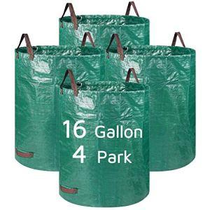 Lagaga Grand sac de jardin résistant avec poignée pour extérieur, pour jardin, pelouse, terrasse, piscine (4 parcs)