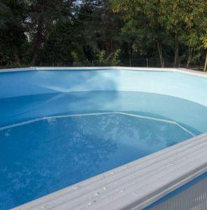 Liner Piscine Hors Sol – Diamètre 350-360 cm – Hauteur 120-132cm – Montage Overlap – Coloris Bleu