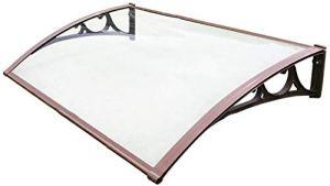 LLSS Porte de Store à l'avant et fenêtre, Couverture de Toit Transparent, Support en Aluminium de 80 cm de Long, Protection Solaire/Parasol/Protection de la Pluie – Sélection de la Taille,80×120cm