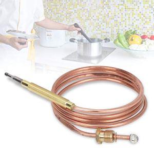logozoe Thermocouple de cheminée, thermocouple à gaz, Remplacement de thermocouple de cuisinière à gaz pour Chauffe-Eau à Induction