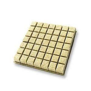 Lot de 49 cubes de culture en laine de roche (3,8 cm) – Feuilles de démarrage de taille moyenne (49 par paquet).
