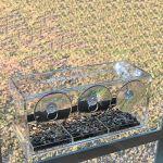 Montloxs Mangeoire à Oiseaux pour fenêtre en Acrylique Transparent avec 3 ventouses et Trous de Drainage