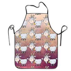 NA Tabliers chèvre Tablier Animal pour Cuisine Barbecue Barbecue Cuisson Jardinage imperméable Durable et Grand Cadeau Code Uniforme Costume pour Hommes Femmes Design créatif Bavoir