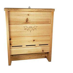 nichoir Chauve Souris en kit, Bois Naturel pin Bat Box,à Suspendre Chauve-Souris Maison Maison Chauve Souris Été/Hiver 33x7x40.5 cm(2 PièCes)
