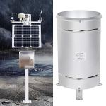 Nobranded Jauge de Pluie Capteur de Pluie en Acier Inoxydable Seau à basculement Simple Outil de Surveillance de la Mesure des précipitations