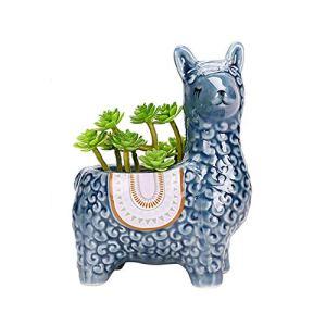 OCGDZ Céramique de Mouton en Forme d'animal Fleur de Fleur bonsaï succulentes Artisanat décoratifs poterie Mini Porc Fleur Pot Pot Mini Vase (Couleur : Style 5)