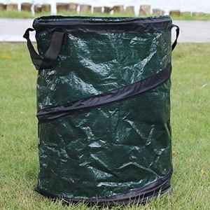 Ouqian Les Sacs de Culture de Jardin Feuilles Jardin Portable tissé Pliant Trash Can Sac de Stockage pour Les Amateurs de Jardinage (Couleur : Vert, Size : 45X75cm)