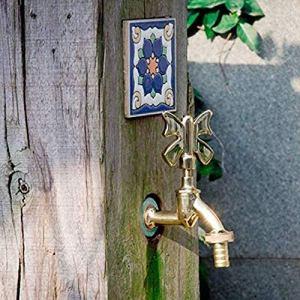 Robinet de jardin robinet de jardin décoratif extérieur forme animale de jardin vert/laiton Antique vadrouille à laver/robinet Animal d'arrosage de jardin