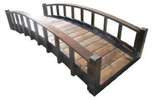 SamsGazebos Moon Bridges Pont de jardin en bois style japonais Marron 2,4 m
