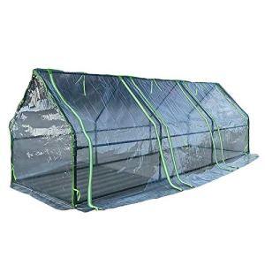 Serre de jardin Petites Serres de Tunnel Extérieures Intérieures, Plantes Succulentes en Plastique Transparentes Maison Chaude de Fleur, Maison de Culture Chaude en Plein Air D'hiver