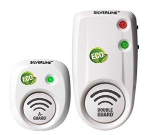 Silverline Répulsifs pour rongeurs Mr 80 DG2 + Mr 30, 2 appareils: 1 x 80 m² et 1 x 30 m² – Blanc