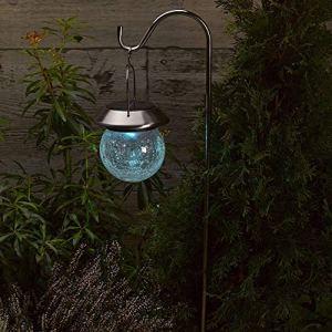Smart Solar 1011750RB ALTUNA 1011750RB-Linterna colgante Globo agrietado, Multicoloured, 2