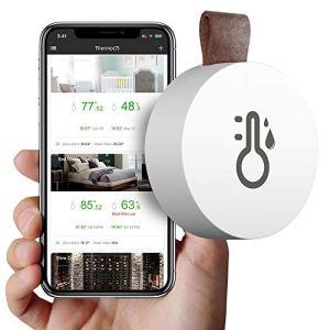 SOOTOP Hygromètre à thermomètre sans Fil, Mini capteur dhumidité de température Bluetooth 5.0 avec Exportation de données et Alerte, Moniteur dhumidité de la température avec APP
