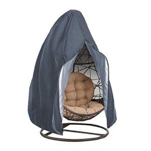 Sponsi Housse de chaise à suspendre en forme d'œuf – Étanche pour extérieur – Protection pour chaise de jardin – Protection contre la poussière – Légère grey En option.