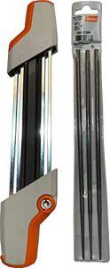 Stihl Lot de 3 limes de rechange pour aiguiseur de chaîne de tronçonneuse 5605-750-4305 et 7010-871-0398