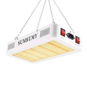 SUMKUMY Lampe LED Horticole,Lampe pour Plantes 1200W 300 LED IP44 Lampe de Croissance 3200-4200K Tout Le Spectre Feu Rouge IR 750nm Lampe de Culture pour Fleurs d'intérieur,Herbes,Légumes, etc.