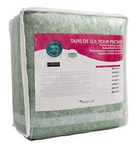Tapis De Sol Piscine Hors Sol – 550×510cm – 110g/m – Feutrine Piscine – Protection Liner – EDG