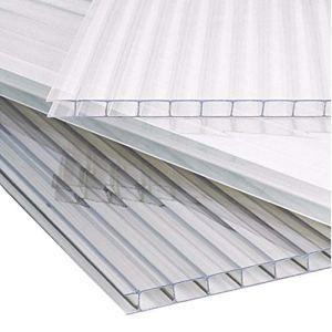 The Fellie Panneaux de toit en polycarbonate pour auvent, abri de jardin, 610 x 1220 x 4 mm, transparent, 14 pieces