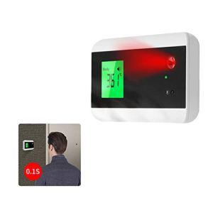 Thermomètre frontal infrarouge mural avec Bluetooth et sonnette, thermomètre corporel numérique sans contact avec alarme de fièvre haute température pour bureau scolaire ° C / ° F Commutez librement
