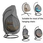 TTAototech Housse de chaise suspendue en osier pour terrasse avec fermeture éclair pour extérieur