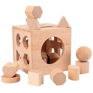 UEXCN Trieur cognitif cognitif en bois à 17 trous – Jouet éducatif préscolaire – Amusez-vous avec les enfants