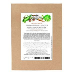 Urban gardening – kit de graines avec 5 variétés de légumes simples pour le petit jardin en balcon