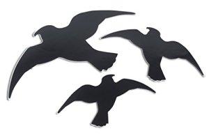 Windhager Oiseaux de Silhouettes, Lot de 3