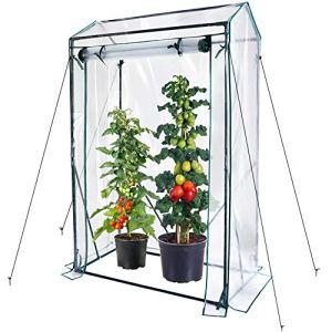 Worth Garden petite serre transparente PVC couverture et fermeture à glissière plante maison feuille serre serre maison de tomates 100 x 50 x 150 cm