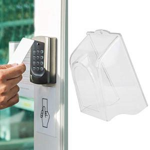 wosume 【𝐍𝐞𝒘 𝐘𝐞𝐚𝐫 𝐆𝐢𝐟𝐭】 Couverture de Pluie en Plastique, Serrure d'empreinte Digitale Transparente Sonnette imperméable Couverture de Pluie contrôle d'accès attachement Anti-Pluie