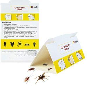 YHmall 12 pièges à Insectes pièges à Insectes Anti cafards Multi Insecte piège à Mouches Autocollant Jaune