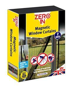 Zero In Lot de 2 Rideaux Anti-Insectes magnétiques pour fenêtre