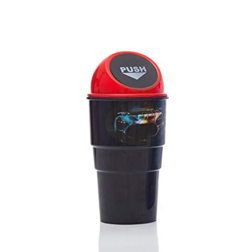 ZOZOSEP Car Corbeille Universal Voyage Portable Mini Poubelle avec Porte-gobelet du Couvercle