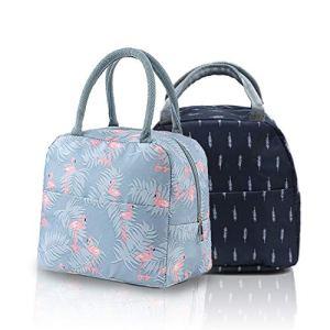 2 pièces de sac à lunch portable, sac isotherme, sac à lunch, sac de pique-nique, sac de rangement des aliments, utilisé pour le stockage et le transport de la nourriture de camping pour le travail