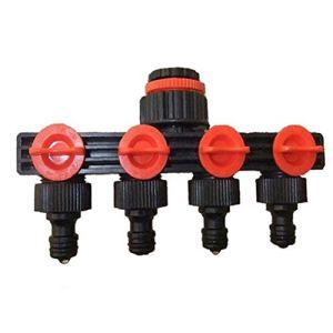 4 voies jardin en plastique Tuyau séparateur d'eau robuste Adaptateur de tuyau pour l'extérieur robinet d'arrosage goutte à goutte Systèmes d'irrigation Pelouses Outils de jardin