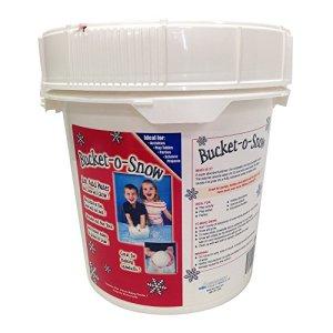 Bucket-O-Snow, fausses neiges activées par l'eau, seau de 1 gallon – Pour plus de 14 gallons de neige, SNOW