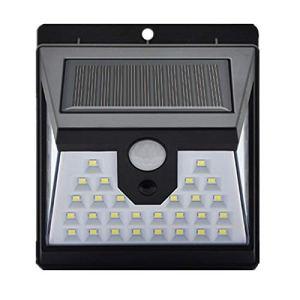 Camisin Lampes solaires d'extérieur 40 LED et 3 modes de fonctionnement IP65 étanches avec détecteur de mouvement