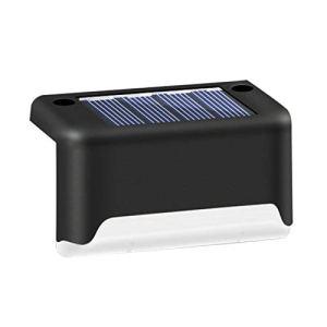 Camisin Lot de 4 lampes solaires LED étanches pour escaliers, balustrades et clôtures