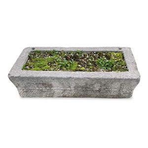 CBAM Baignoire de jardin en pierre pour plantes ou fontaine d'extérieur Garden Design Stone Tub L.130 cm
