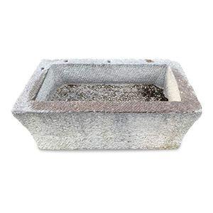 CBAM Baignoire d'extérieur en pierre pour maison ou fontaine de jardin Design Natural Stone Tub L.110 cm