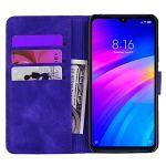 Coque pour Xiaomi Redmi 7 Housse, Etui en Cuir PU Portefeuille Coque avec Fente Carte, Fermeture Magnétique und Flip Béquille pour Xiaomi Redmi 7 – JEHF010696 Violet