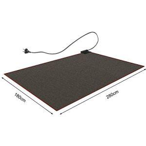 CRAVOG Tapis chauffant 180 x 280 cm – Noir