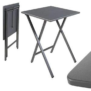 dcasa Table carrée Pliante Gris 48 x 48 x 65 cm