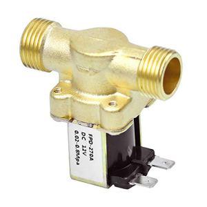Électrovanne, G3/4 DC12V Laiton Électrovanne Normalement Ouverte, Robinets électromagnétiques, Interrupteur D'entrée D'eau